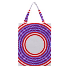 Stars Stripes Circle Red Blue Space Round Classic Tote Bag