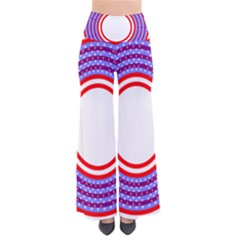 Stars Stripes Circle Red Blue Space Round Pants