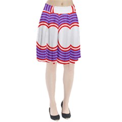 Stars Stripes Circle Red Blue Space Round Pleated Skirt