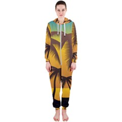 Sunset Summer Hooded Jumpsuit (ladies)