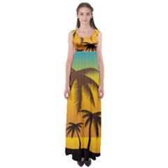 Sunset Summer Empire Waist Maxi Dress