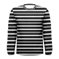 Tribal Stripes Black White Men s Long Sleeve Tee