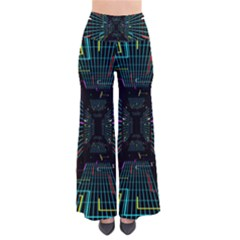 Seamless 3d Animation Digital Futuristic Tunnel Path Color Changing Geometric Electrical Line Zoomin Pants