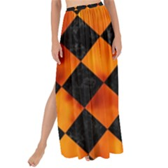 Square2 Black Marble & Fire Maxi Chiffon Tie Up Sarong