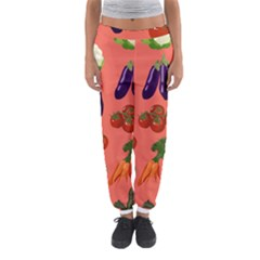 Vegetable Carrot Tomato Pumpkin Eggplant Women s Jogger Sweatpants
