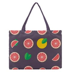 Wild Textures Grapefruits Pattern Lime Orange Zipper Medium Tote Bag