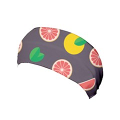 Wild Textures Grapefruits Pattern Lime Orange Yoga Headband