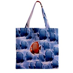 Swim Fish Zipper Grocery Tote Bag