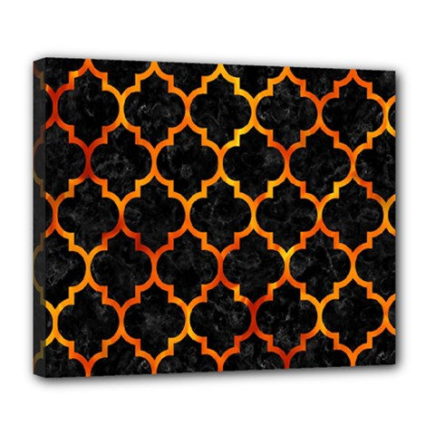 Tile1 Black Marble & Fire Deluxe Canvas 24  X 20