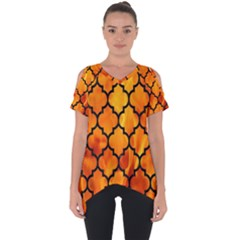 Tile1 Black Marble & Fire (r) Cut Out Side Drop Tee