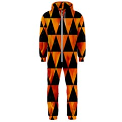 Triangle3 Black Marble & Fire Hooded Jumpsuit (men)