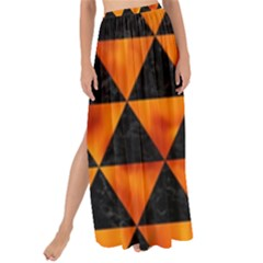 Triangle3 Black Marble & Fire Maxi Chiffon Tie Up Sarong