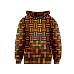 Woven1 Black Marble & Fire Kids  Pullover Hoodie
