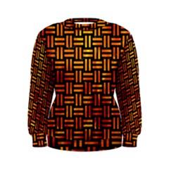 Woven1 Black Marble & Fire Women s Sweatshirt