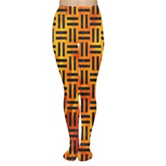 Woven1 Black Marble & Fire (r) Women s Tights