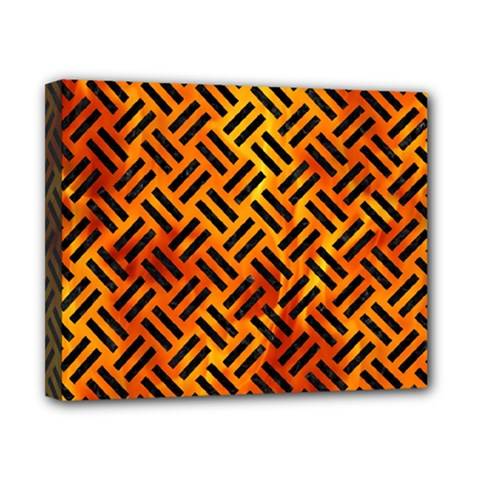 Woven2 Black Marble & Fire (r) Canvas 10  X 8