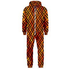 Woven2 Black Marble & Fire (r) Hooded Jumpsuit (men)