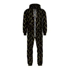 Brick2 Black Marble & Gold Foil Hooded Jumpsuit (kids)
