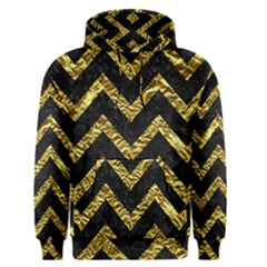 Chevron9 Black Marble & Gold Foil Men s Pullover Hoodie