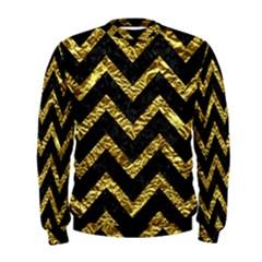 Chevron9 Black Marble & Gold Foil Men s Sweatshirt