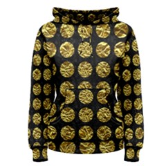 Circles1 Black Marble & Gold Foil Women s Pullover Hoodie