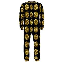 Circles1 Black Marble & Gold Foil Onepiece Jumpsuit (men)