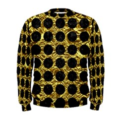 Circles1 Black Marble & Gold Foil (r) Men s Sweatshirt