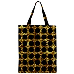 Circles1 Black Marble & Gold Foil (r) Zipper Classic Tote Bag