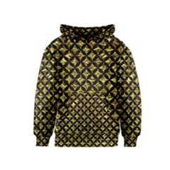 Circles3 Black Marble & Gold Foil (r) Kids  Pullover Hoodie