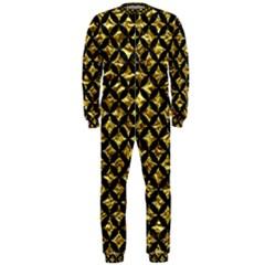 Circles3 Black Marble & Gold Foil (r) Onepiece Jumpsuit (men)