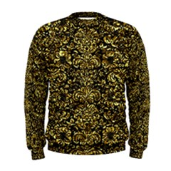 Damask2 Black Marble & Gold Foil Men s Sweatshirt