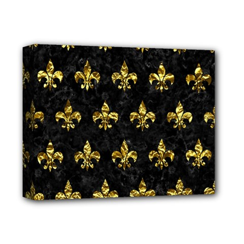 Royal1 Black Marble & Gold Foil (r) Deluxe Canvas 14  X 11