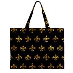 Royal1 Black Marble & Gold Foil (r) Zipper Mini Tote Bag