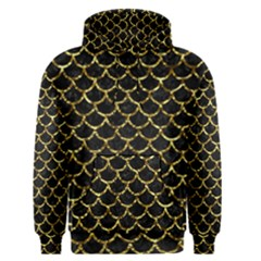 Scales1 Black Marble & Gold Foil Men s Pullover Hoodie