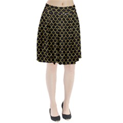 Scales1 Black Marble & Gold Foil Pleated Skirt