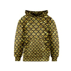 Scales1 Black Marble & Gold Foil (r) Kids  Pullover Hoodie