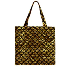 Scales1 Black Marble & Gold Foil (r) Zipper Grocery Tote Bag