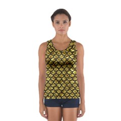 Scales1 Black Marble & Gold Foil (r) Sport Tank Top