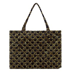 Scales2 Black Marble & Gold Foil Medium Tote Bag