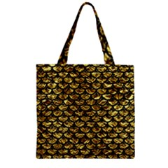 Scales3 Black Marble & Gold Foil (r) Zipper Grocery Tote Bag