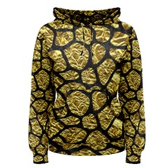 Skin1 Black Marble & Gold Foil Women s Pullover Hoodie
