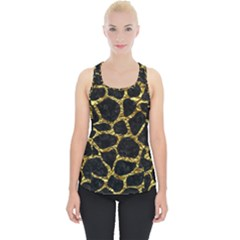 Skin1 Black Marble & Gold Foil (r) Piece Up Tank Top