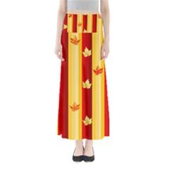 Autumn Background Full Length Maxi Skirt
