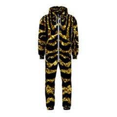 Skin2 Black Marble & Gold Foil Hooded Jumpsuit (kids)