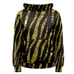 Skin3 Black Marble & Gold Foil Women s Pullover Hoodie