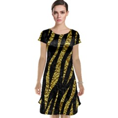 Skin3 Black Marble & Gold Foil Cap Sleeve Nightdress