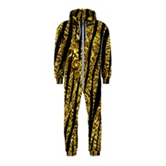 Skin3 Black Marble & Gold Foil (r) Hooded Jumpsuit (kids)