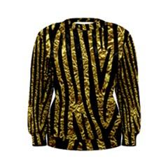 Skin4 Black Marble & Gold Foil Women s Sweatshirt