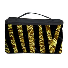 Skin4 Black Marble & Gold Foil (r) Cosmetic Storage Case