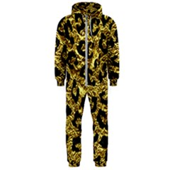 Skin5 Black Marble & Gold Foil Hooded Jumpsuit (men)